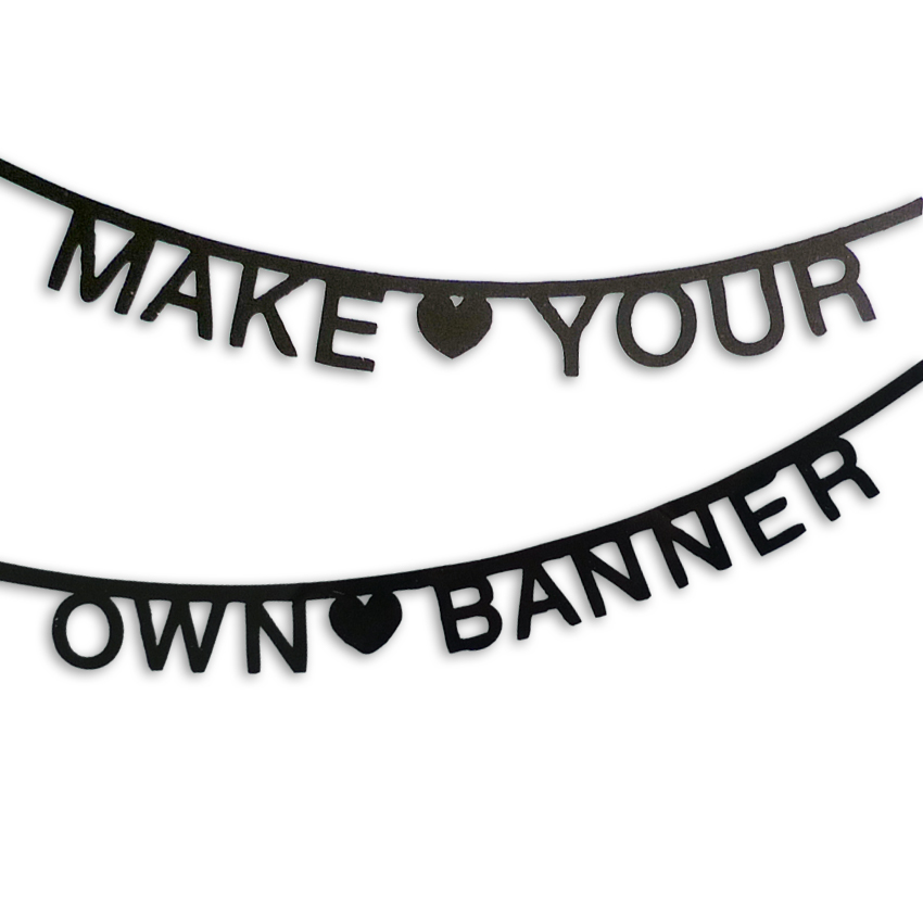 Diy Wedding Word Banners