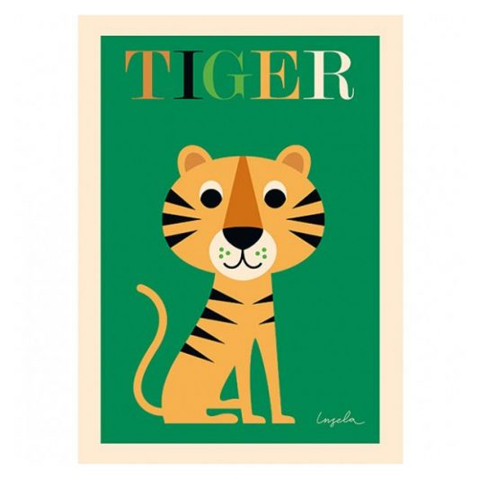 ingela-arrhenius-tiger-poster-by-omm-design