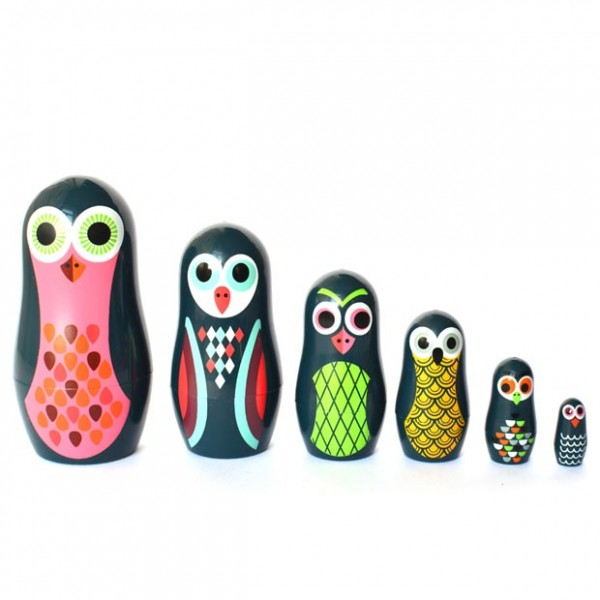 Russian Nesting Dolls Owls Pocket Nesting Dolls Owl