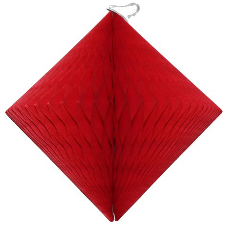 12 inch red diamond decoration