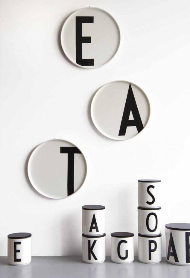 leo bella design letters arne jacobsen alphabet porcelain plates. Black Bedroom Furniture Sets. Home Design Ideas