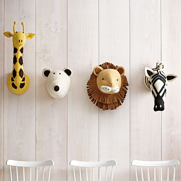 Leo Amp Bella Fiona Walker Felt Animal Head Giraffe