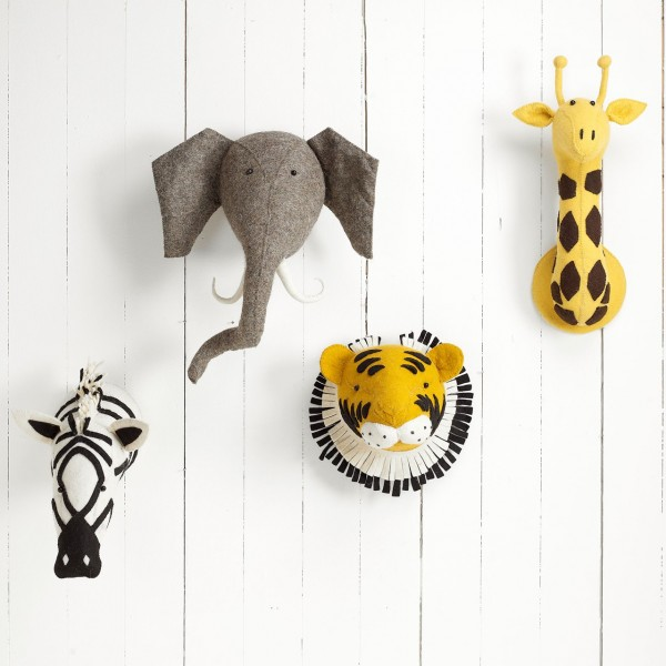Leo Amp Bella Fiona Walker Felt Animal Head Elephant