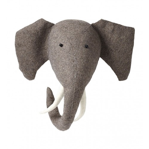 Leo Amp Bella Fiona Walker Felt Animal Head Elephant