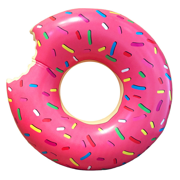 Leo Amp Bella Pumpt Inflatable Pool Ring Giant Donut Pink