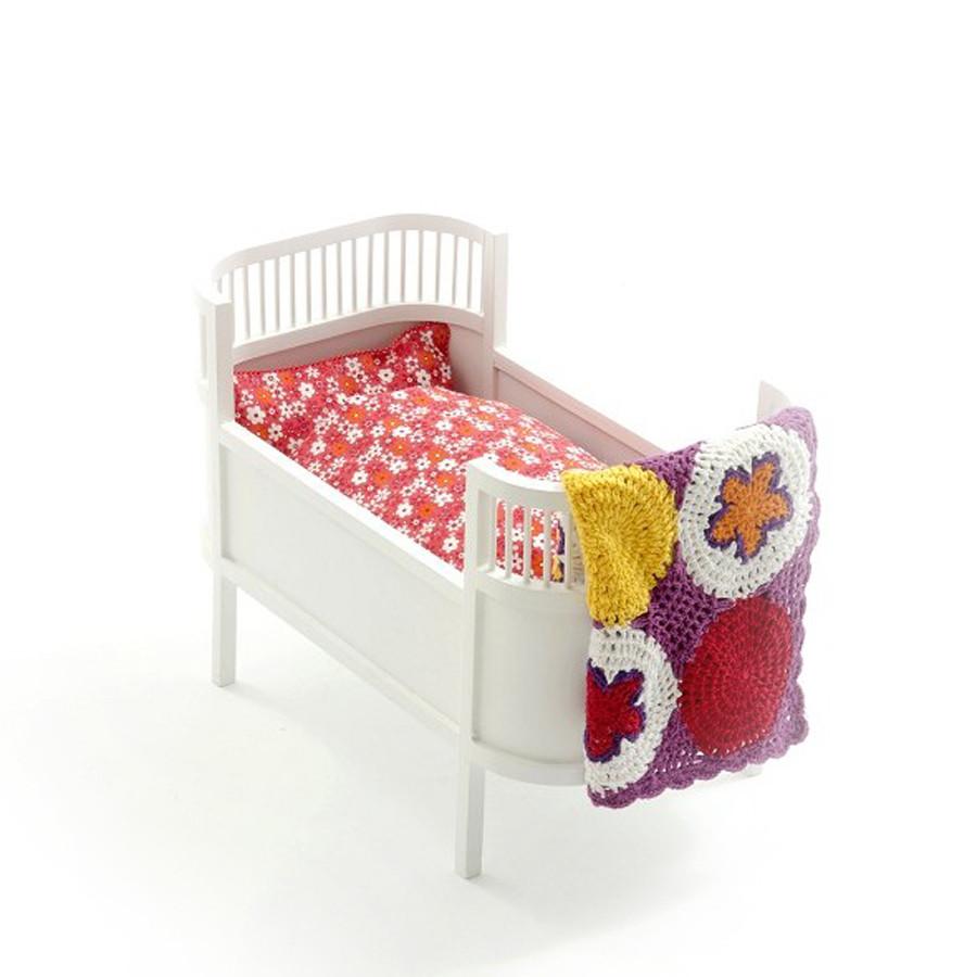 Leo Amp Bella Smallstuff Rosaline Wooden Doll Bed Cot White