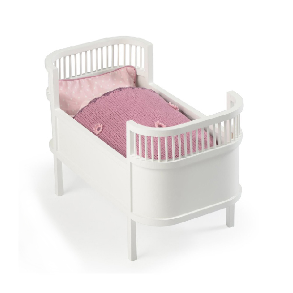 Leo bella smallstuff rosaline wooden doll bed cot white - Wit lederen bed ...