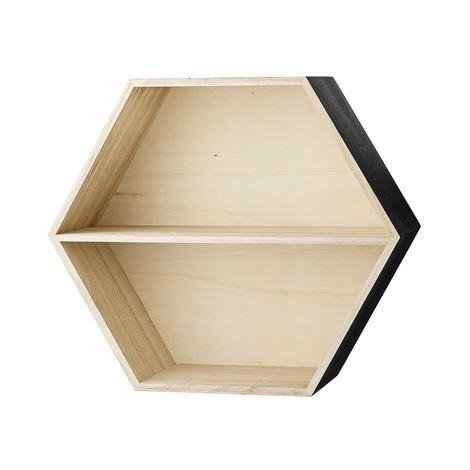 Leo & Bella Hexagonal Display Box Black - Bloomingville