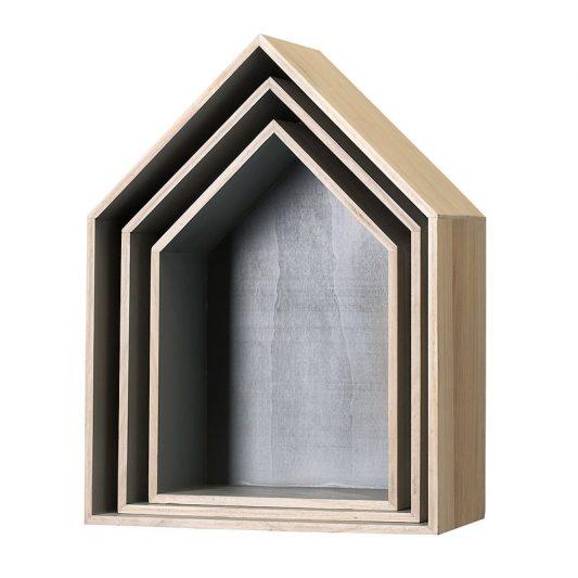 Leo & bella - House storage boxes Grey - bloomingville