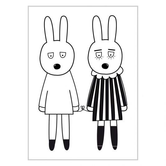 MiniWilla - Rab Love Poster Leo & Bella