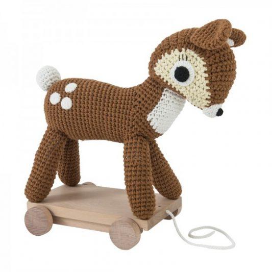 Sebra - Crochet Deer on Wheels Large