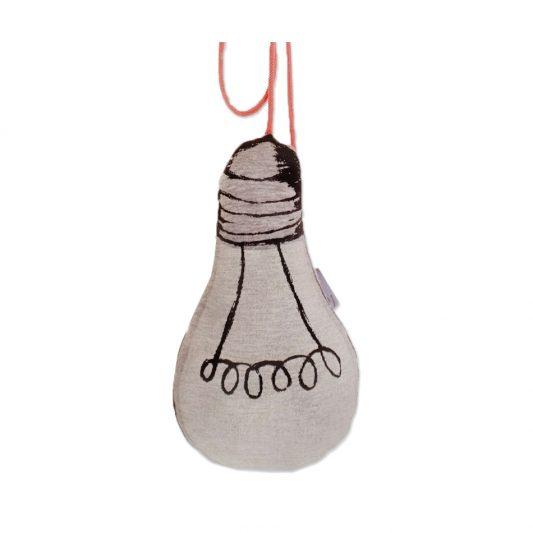 Le petit M Light Bulb Cushion Pink