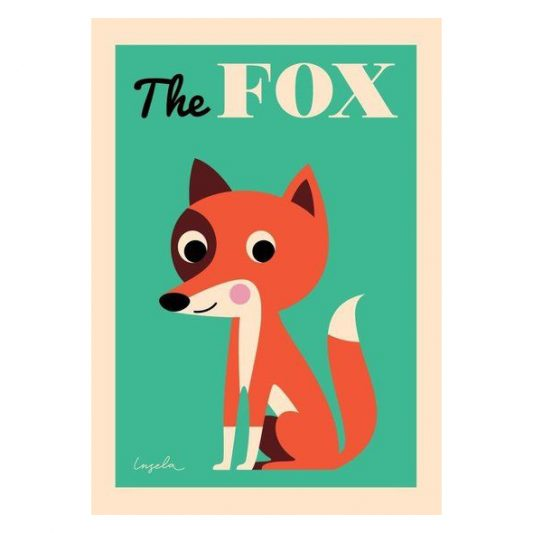 leo bella omm design the fox poster