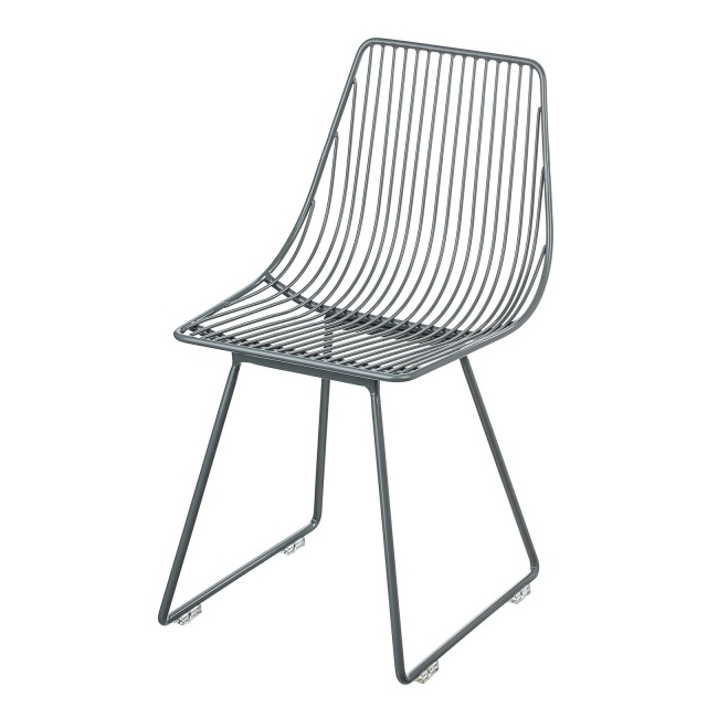 Leo Bella Sebra ISit Kids Metal Chair Dark Grey
