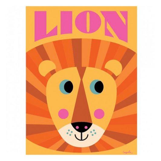 ingela-arrhenius-lion-face-poster-by-omm-design