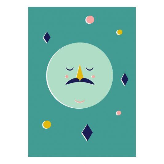 omm design confetti moon poster