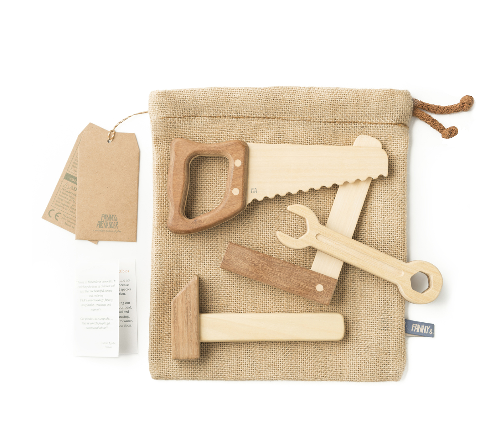 Leo & Bella / Shop / Fanny & Alexander Heirloom Wooden Tool Set