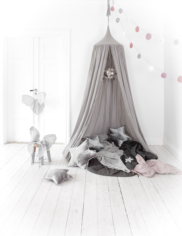 leo bella numero 74 cotton canopy silver grey. Black Bedroom Furniture Sets. Home Design Ideas