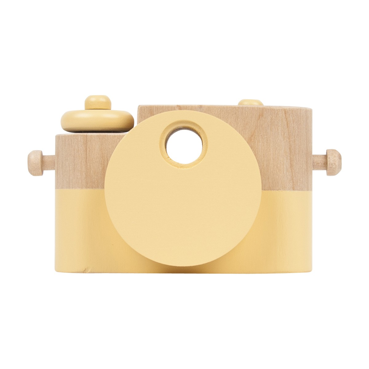Leo & Bella | Twig Creative Pixie Wooden Camera Leather Strap Yellow