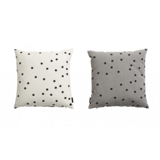 leo bella oyoy cushion confetti white grey. Black Bedroom Furniture Sets. Home Design Ideas
