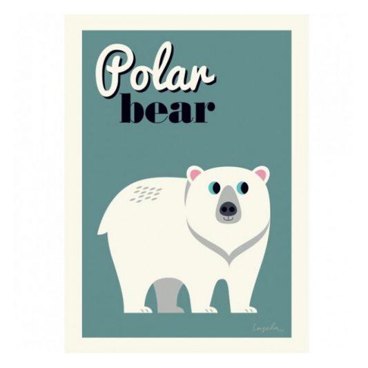 ingela-arrhenius-polar-bear-poster-by-omm-design