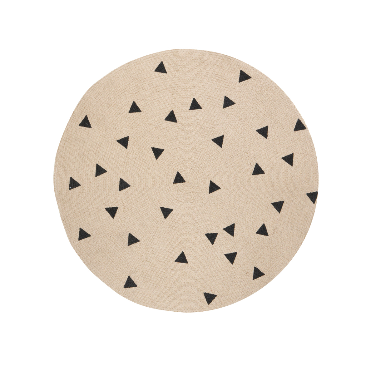 Leo bella ferm living round carpet rug triangle