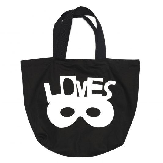 Large Canvas Bag, Inky Black, Loves Mask