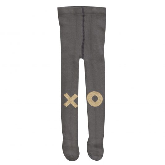 Tights, Grey, Gold XO
