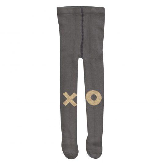 Tights, Grey, Gold XO