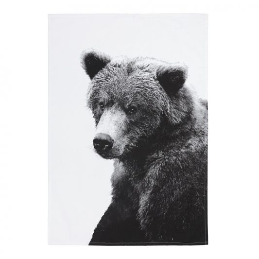 by nord bear tea towel