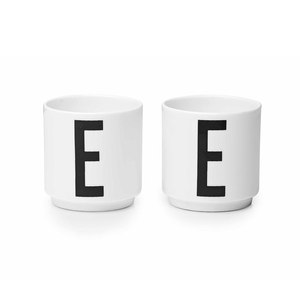 leo bella design letters arne jacobsen egg cups set of 2. Black Bedroom Furniture Sets. Home Design Ideas