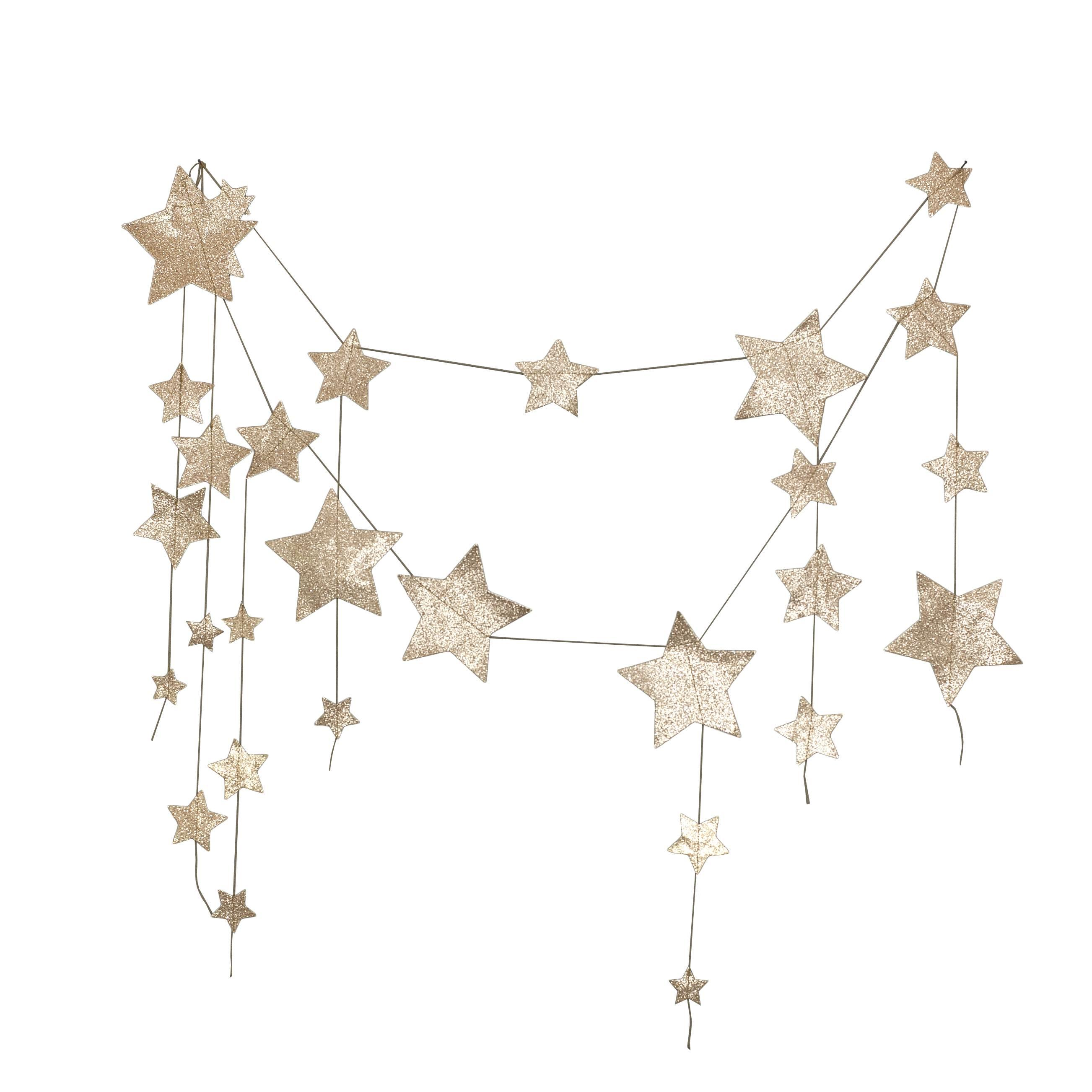 Numero 74 Garland Hanging Falling Star Gold