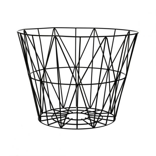 ferm LIVING - Wire Basket Black Large