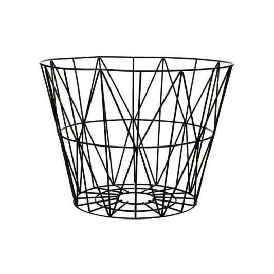ferm LIVING Wire Basket Black Med