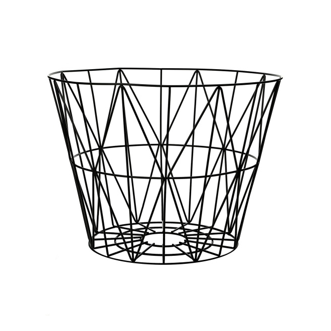 leo bella shop ferm living wire basket black medium. Black Bedroom Furniture Sets. Home Design Ideas