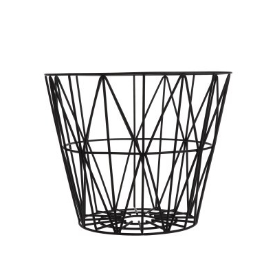ferm Living Wire Basket Black Small 1
