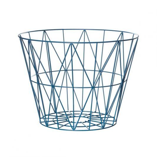 ferm Living Wire Basket Petrol Large