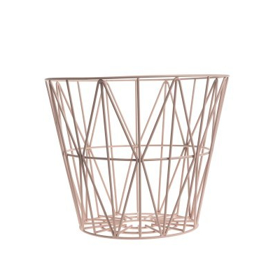 ferm Living Wire Basket Rose Small 1