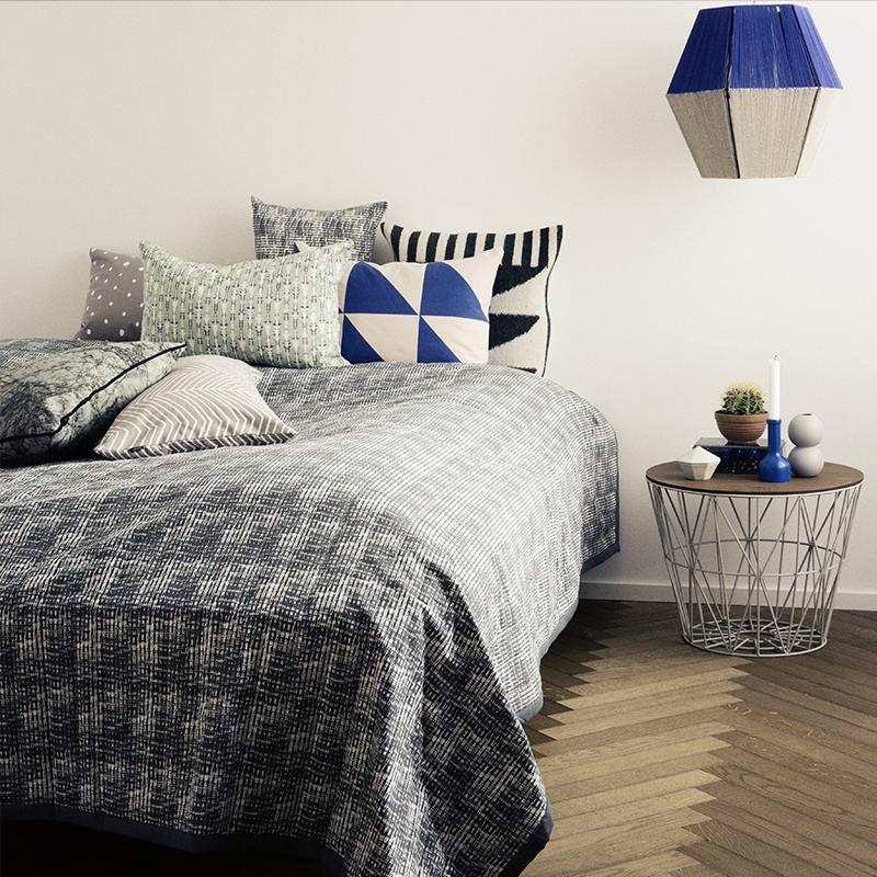 leo bella ferm living wire basket grey medium. Black Bedroom Furniture Sets. Home Design Ideas