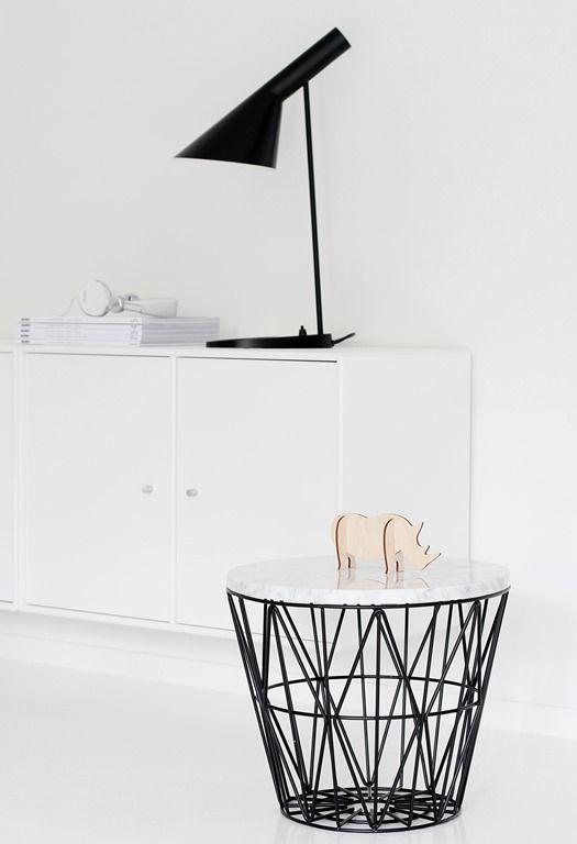 leo bella ferm living wire basket black medium. Black Bedroom Furniture Sets. Home Design Ideas