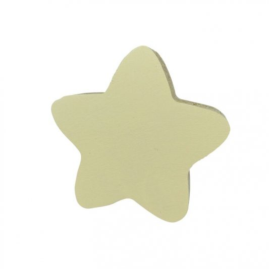 knobbly pale yellow star