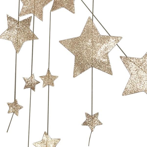 Leo Amp Bella Numero 74 Garland Hanging Falling Star Gold