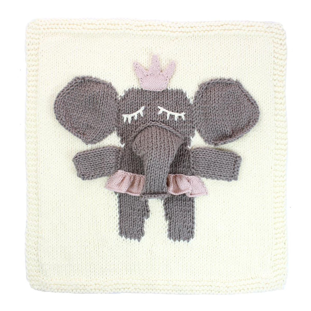 Leo & Bella APPI Studio Knitted Baby Blanket Elephant Cream