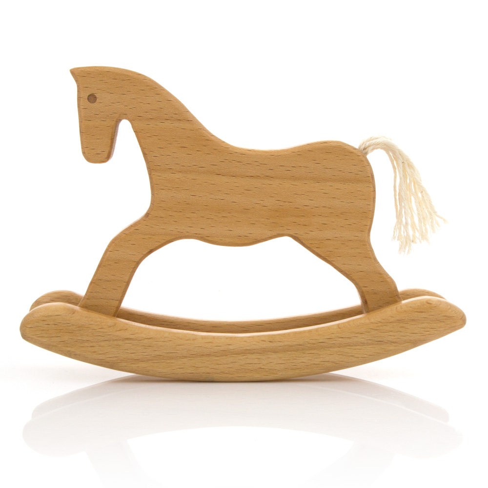 Wooden Rocking Horse ~ Leo bella milton asbhy gift boxed wooden toy rocking horse