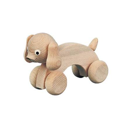 Wooden Push Along Tudor Dog