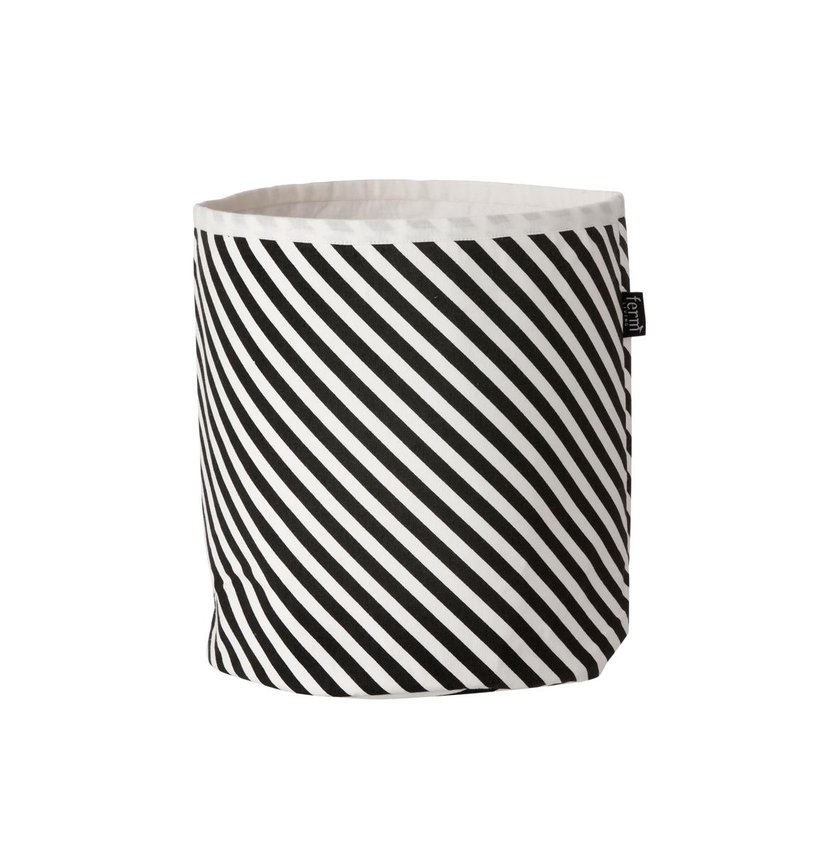 leo bella ferm living basket black stripe small. Black Bedroom Furniture Sets. Home Design Ideas