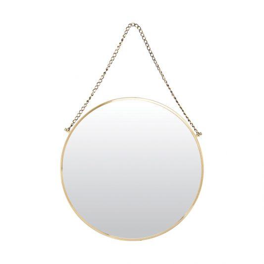 House_Doctor_Round_Brass_Mirror