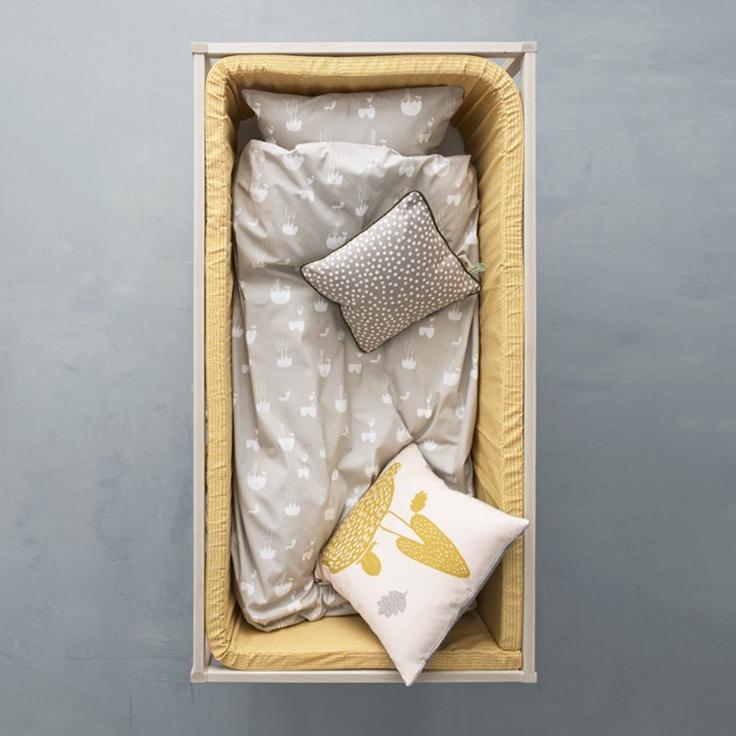 leo bella ferm living bedding landscape grey junior cot. Black Bedroom Furniture Sets. Home Design Ideas