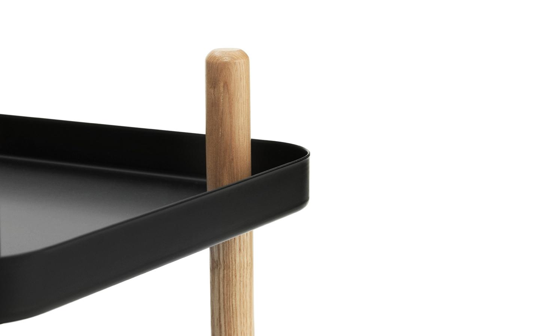 leo bella normann copenhagen block table black. Black Bedroom Furniture Sets. Home Design Ideas