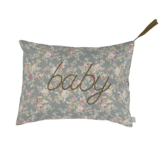 Cushion Cover Message Popeline Cotton 30x40 cm Baby Low Def